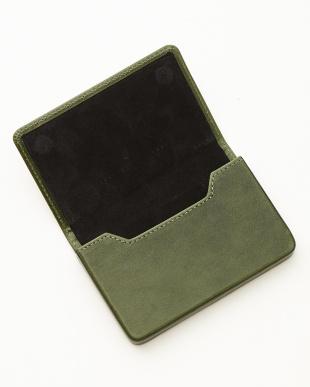 グリーン/ブラック  名刺入れ<Magnetic business card holder>見る