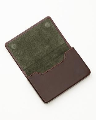 ブラウン/グリーン  名刺入れ<Magnetic business card holder>見る