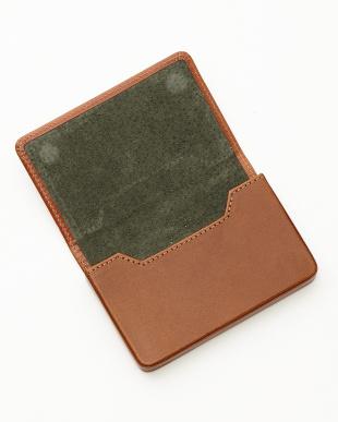 ハバナタン/グリーン  名刺入れ<Magnetic business card holder>見る