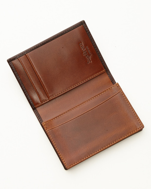 ブラウン/タン  名刺入れ<expandable business card case>見る