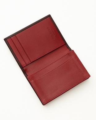 ブラウン/レッド  名刺入れ<expandable business card case>見る