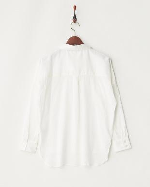 WHITE  コットン混ドロップショルダーテンセルシャツ見る