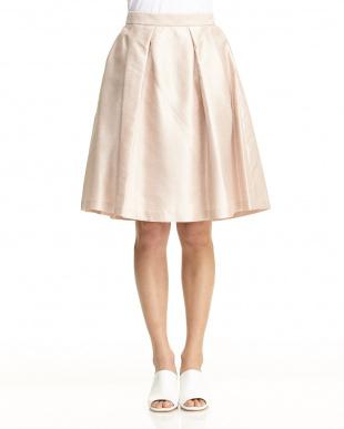 ピンク バックサテンシャンタンスカート見る
