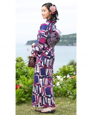 パープル系 浴衣単品|WOMEN見る