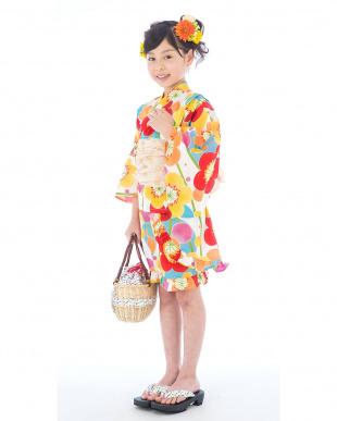 マルチ 水彩タッチ ドレス+帯 2点セット|GIRL見る