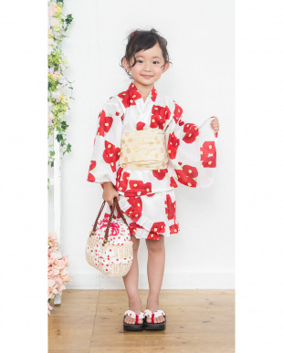 ホワイト系 椿 ドレス+帯 2点セット|GIRL見る