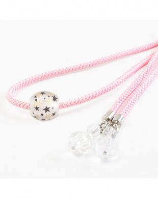 ピンク 星トンボ玉 飾り紐|WOMEN見る