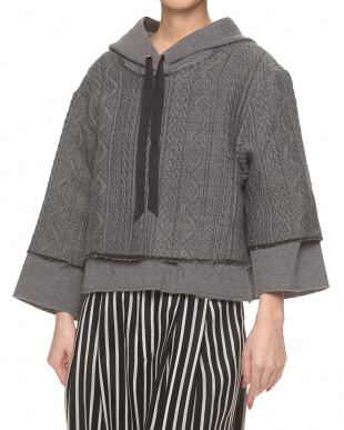 GRY  フーデッド PULLOVER ROSSO見る