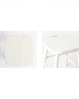 ホワイト Low stool見る