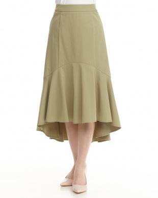 グリーン  マーメードラインスカート見る