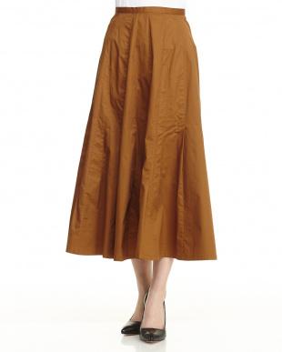 Brown コットンツイルスカート見る