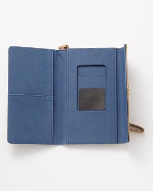 ベージュ レターデザイン スマートフォン用手帳型マルチケース見る