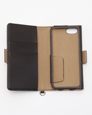 ブラック iPhoneSE/5s/5用 ドローイングハート 手帳型ケース見る