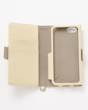 アイボリー iPhoneSE/5s/5用 ドローイングハート 手帳型ケース見る