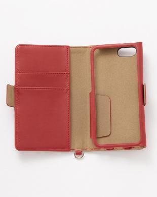 レッド iPhoneSE/5s/5用 ドローイングハート 手帳型ケース見る