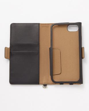 ブラック iPhone8/7/6s/6用 ドローイングハート2手帳型ケース見る