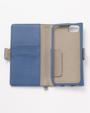 ブルー  iPhone8/7/6s/6用 ドローイングハート2手帳型ケース見る