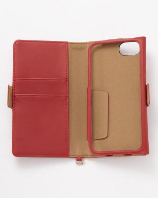 レッド iPhone8/7/6s/6用 ドローイングハート2手帳型ケース見る