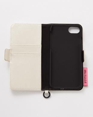 アイボリー iPhone8/7/6s/6用 ニナ・チャクラバーティ 手帳型ケース見る