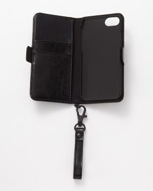 ブラック iPhone8/7/6s/6用 パンチング手帳型ケース|UNISEX見る
