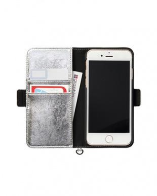 シルバー iPhone8/7/6s/6用 パンチング手帳型ケース|UNISEX見る