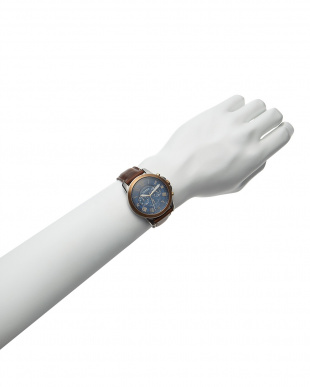 ゴールド×シルバー×ブラウン クオーツ腕時計|MEN見る