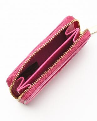 ピンク RFID ミニジップカードケース|WOMEN見る