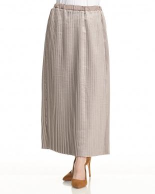 MOC スウェード風プリーツスカート見る