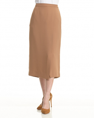 NVY アシメスリットダブルクロスタイトスカート見る
