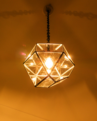SV  LAMP by CRAFT TERRARIUM 1BULB PENDANT LIGHT TRIANGLE(電球なし)見る