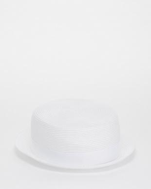 ホワイト  リボンハット見る