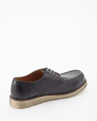 ブラック  シェブロンホワイトvivramソール モカシン 短靴見る