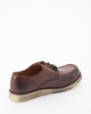 レッドブラウン  シェブロンホワイトvivramソール モカシン 短靴見る