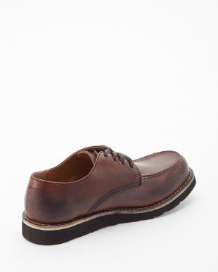 レッドブラウン  シェブロンブラックvivramソール モカシン 短靴見る