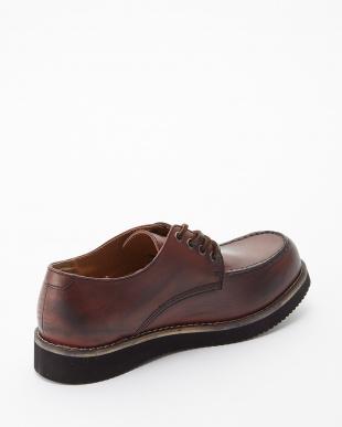 レッドブラウン  ボーダーブラックvivramソール モカシン 短靴見る