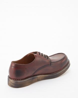 レッドブラウン ボーダーvivramソール モカシン 短靴見る