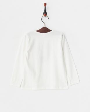 ホワイト  ハートモチーフロングTシャツ見る