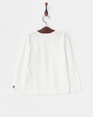 ホワイト  レタードロングTシャツ見る