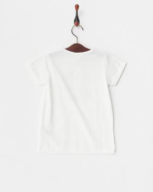 ホワイト メッセージプリントTシャツ見る