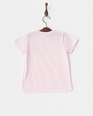 ライトピンク ポケット刺繍Tシャツ見る