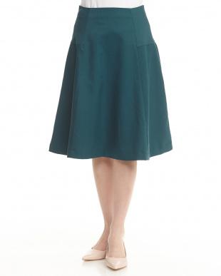 グリーン フレアスカート見る