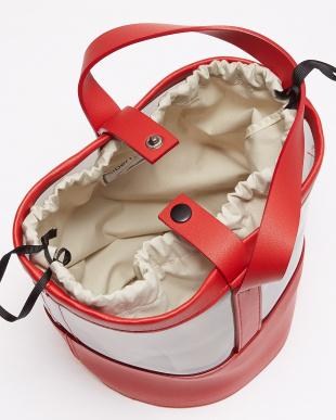 RED スケルトン バケツ型バッグ見る