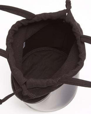 BLACK 異素材コンビ ドロストバッグ見る