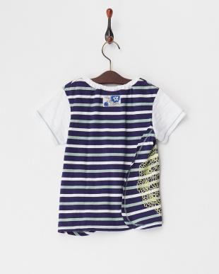 コン  刺しゅうレース風プリントボーダーTシャツ|GIRL見る