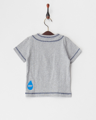 グレー  DROPプリントTシャツ|BOY見る