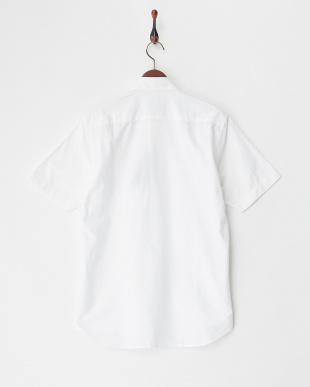 ホワイト  半袖オックスフォードシャツ見る