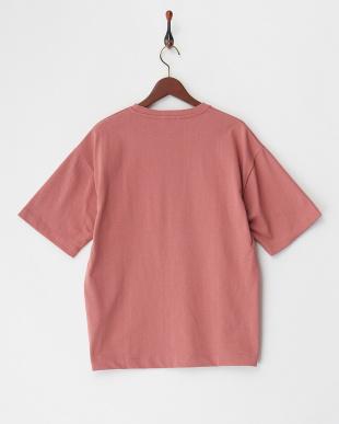 ライトピンク  ビックシルエットポケット付きTシャツ見る