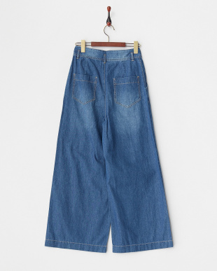 ブルー  DENIM WIDE PANTS見る