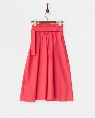 ピンク  タックフレアースカート見る