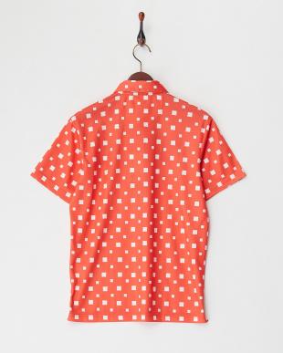 OG メンズ スクエア柄半袖ポロシャツ UVカット・吸汗速乾見る